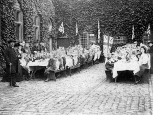 Lord & Lady North's Golden Wedding Anniversary, 1908.Children's tea party at the Abbey