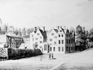 Print of East Front and Carriage House, 1781 by Samuel Hieronymus Grimm